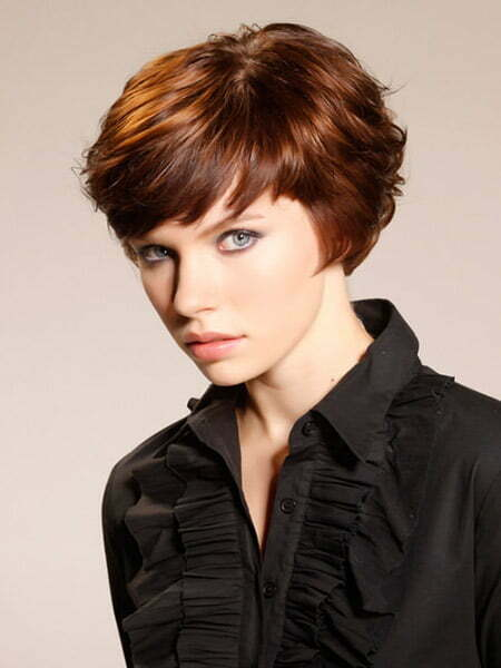 Very Cute Bob Cut with Side-swept Bangs