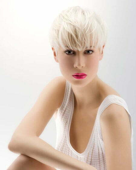 Very Fine Blonde Pixie Hairstyle