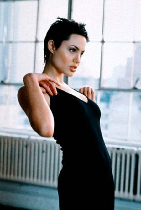 Very Short Hairstyle of Angelina Jolie