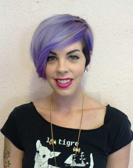 Very Stylish Short Violet Hairstyle