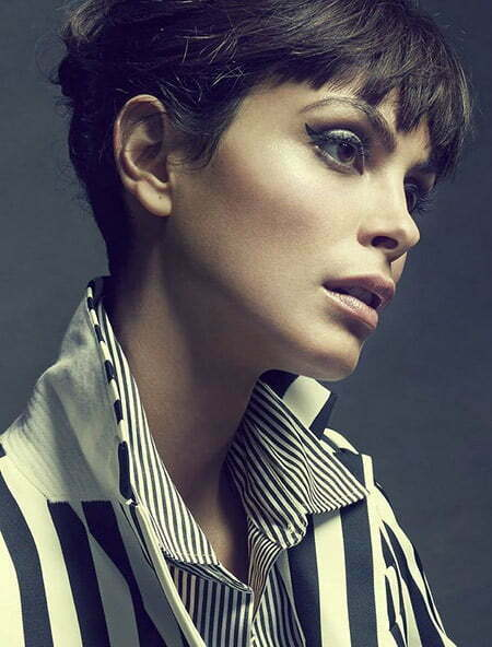 Very charming Pixie Cut with Jagged Bangs