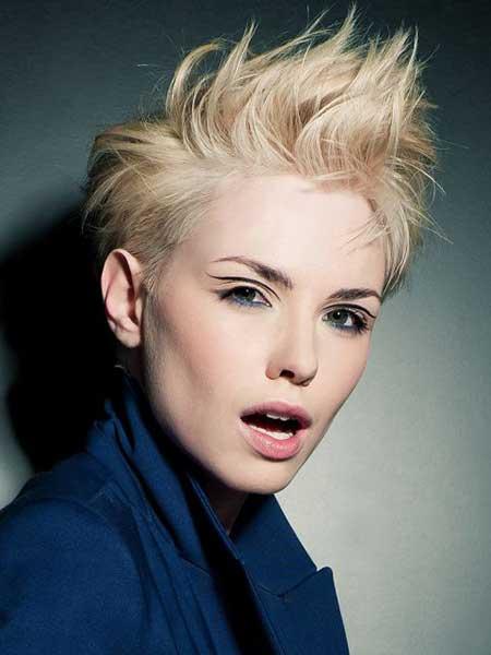 Amazing Light Blonde Pixie Cut