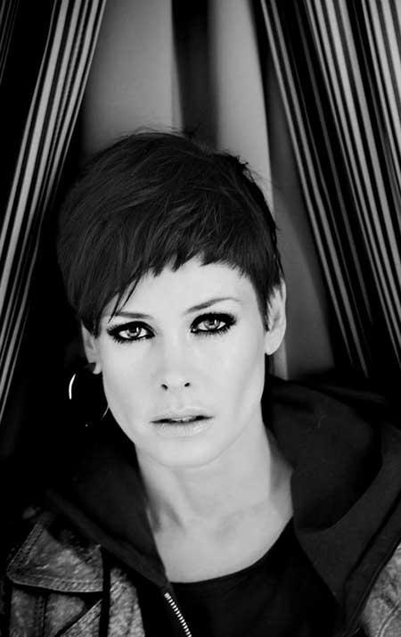 Lene Nystrom's short haircut