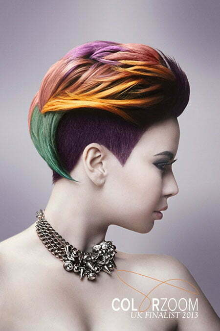 Colorful Short Hair