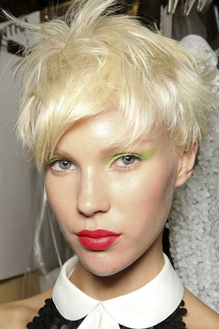 Short Platinum Blonde Hair