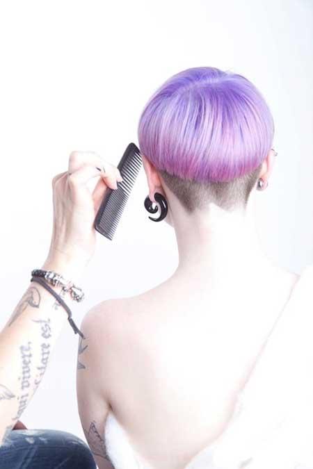 Short hair purple