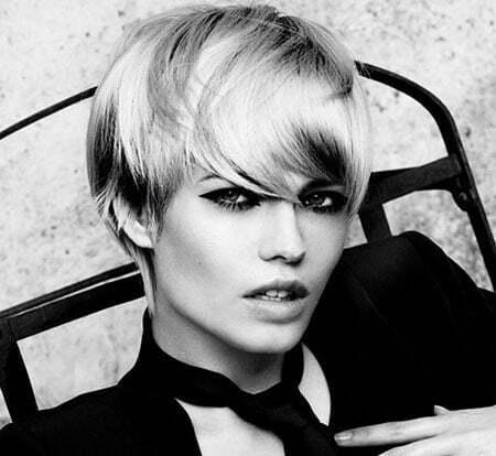 blonde short straight hair