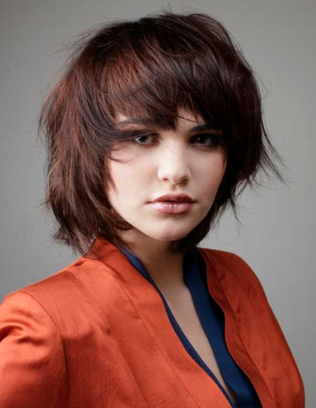 Filled Red Short Bob