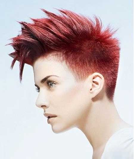 short red straight coloured