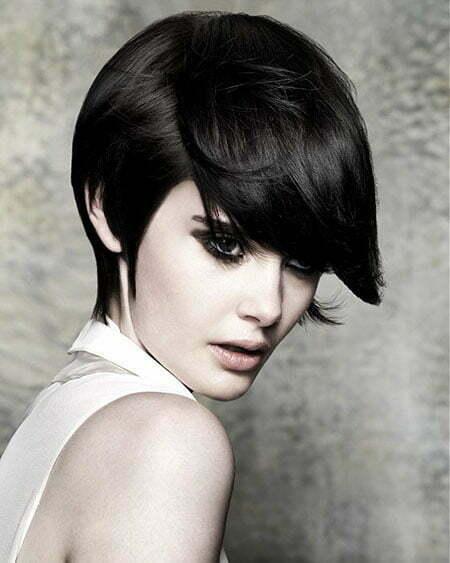 Short Straight Dark Hair