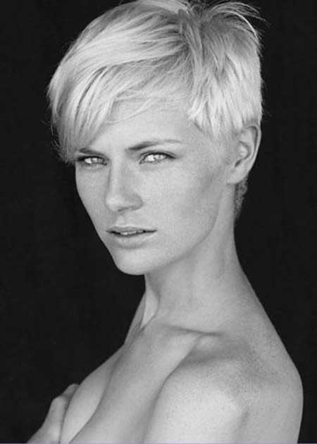 Simple Platinum Haircut