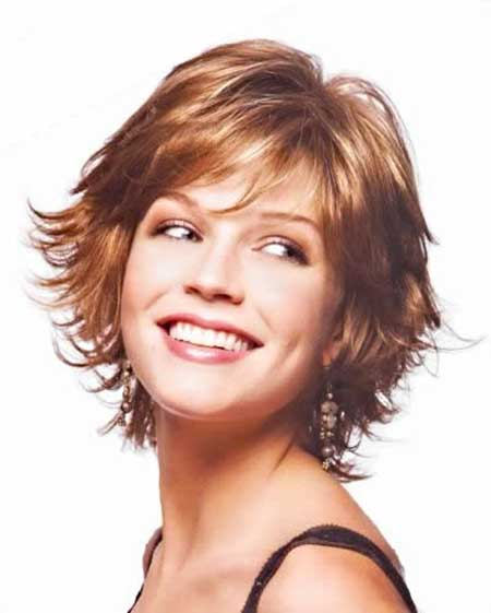 Short Pointy Red Bob Layered Hairstyles 7