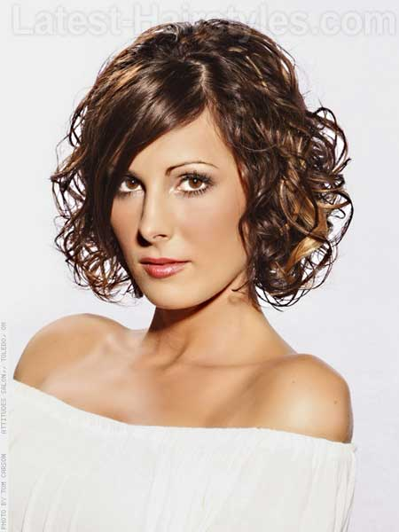Short Two Color Curly Hair