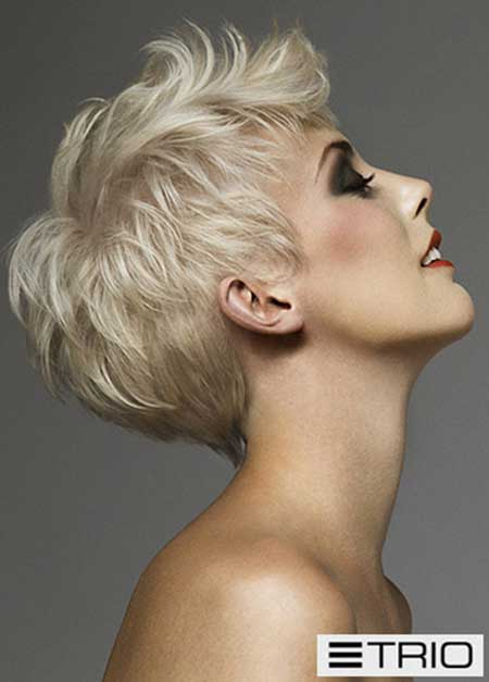 Admirable Latest Short Blonde Hairstyles Short Hairstyles 2016 2017 Hairstyles For Women Draintrainus