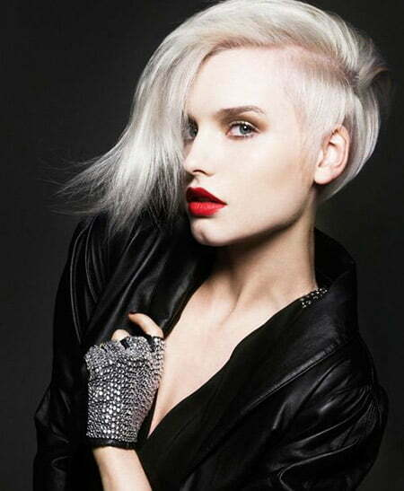 Awesome Platinum Hairstyle with Amazing Undercut