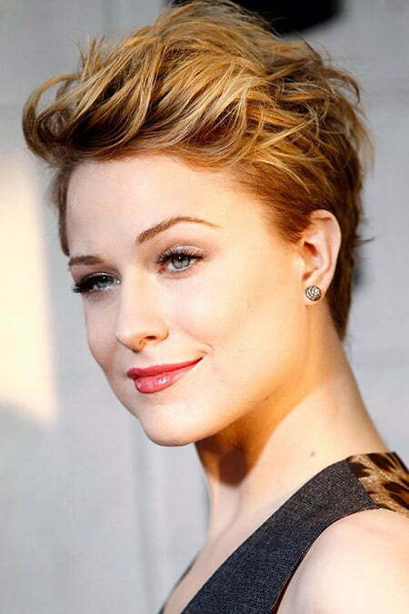 Evan Rachel Wood's Wavy Pixie Cut