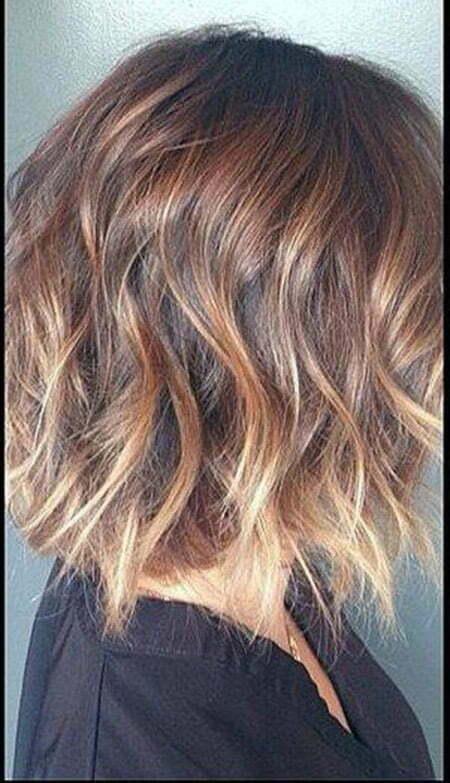 Fantastic light brown Wavy Bob Cut