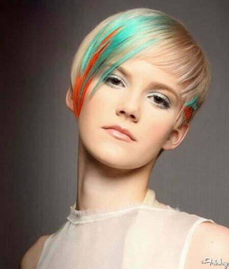 Neon-streaked Pixie Cut by Emma Watson