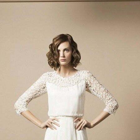 19 Wedding Hairstyle Short Hair_13