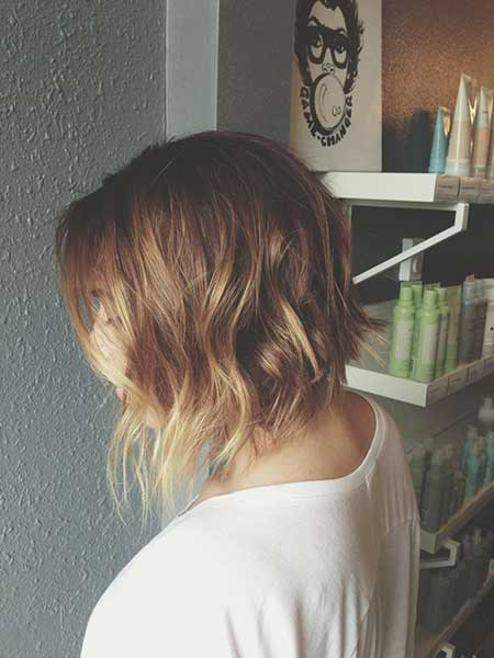 Long Wavy Inverted Bob Haircuts