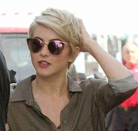 Messy Layered Short Pixie Hairstyle for girls
