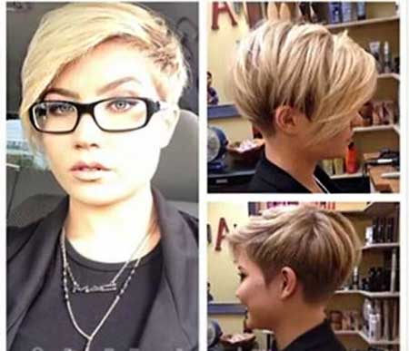 Aysemmtrical Pixie Hairdo for Women