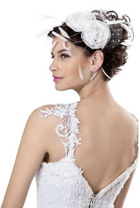 20 Short Hairstyles for Brides_6