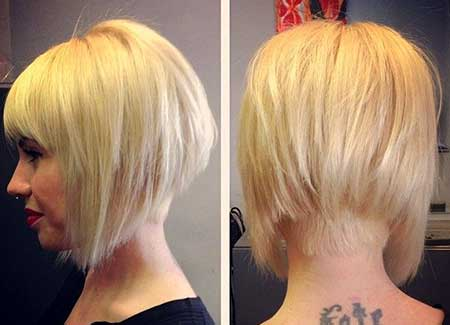 Short Different Light Blonde Bob