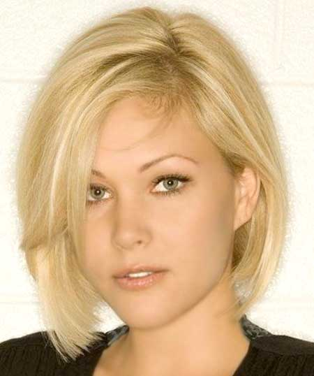 Light Blonde Thin Cute Bob Cut