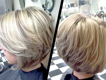 Interesting Blonde Mix Color Bob
