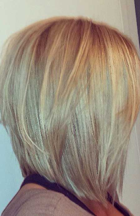 Layered Straight Thick Bob
