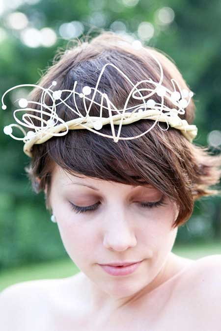 25 Wedding Hairstyles for Short Hair_3