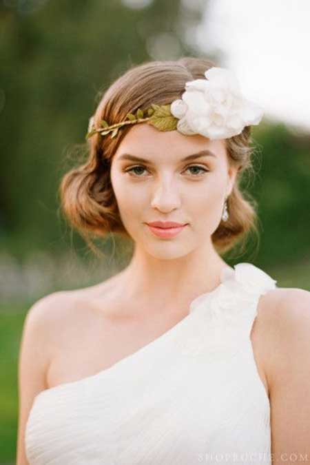 25 Wedding Hairstyles for Short Hair_4