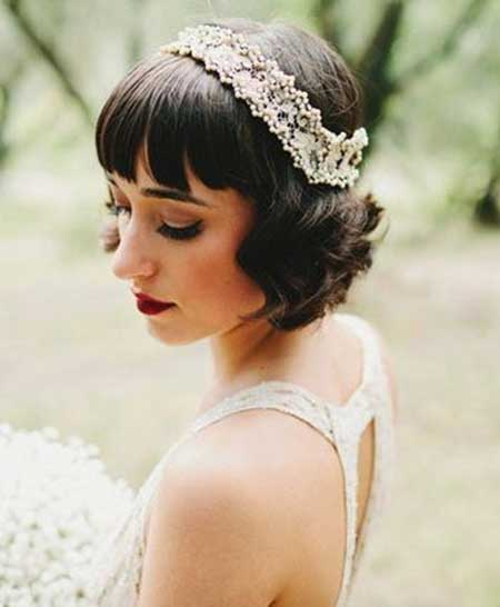 25 Wedding Hairstyles for Short Hair_5