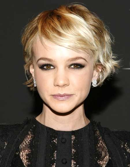 Short Blonde Interesting Wavy Look