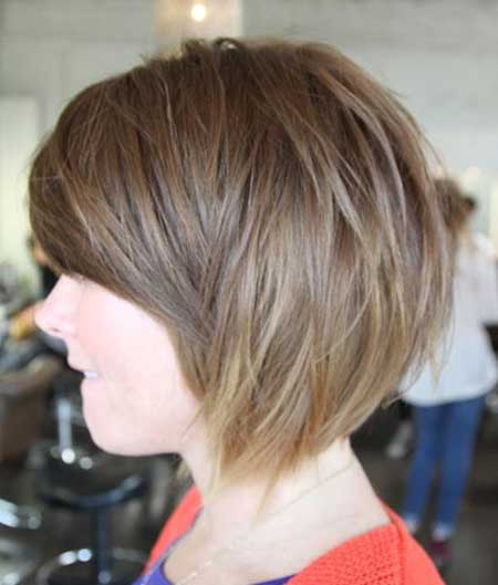 Messy Simple Chestnut Bob