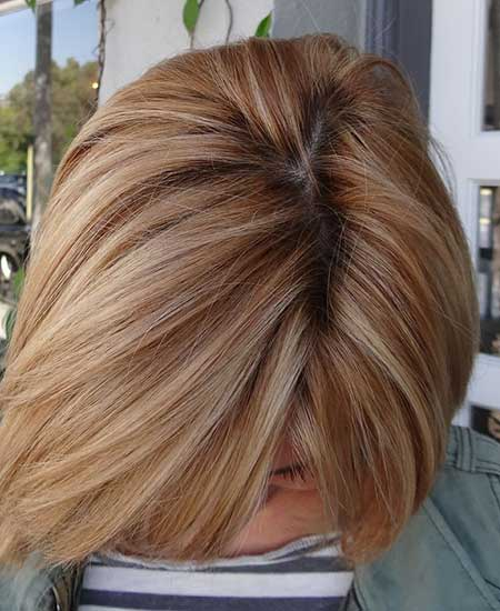 Thick Interesting Blonde Shades Bob