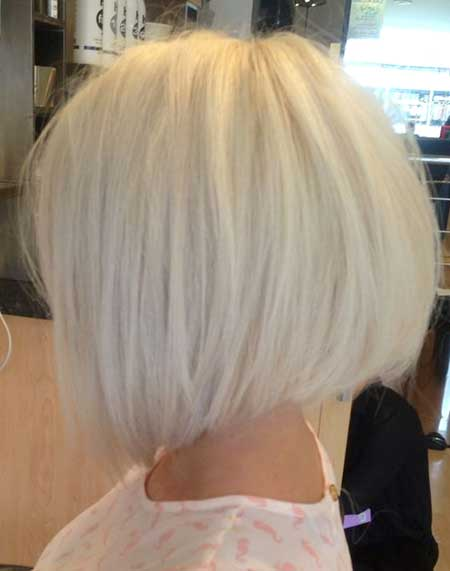 Platinum Straight Cute Bob
