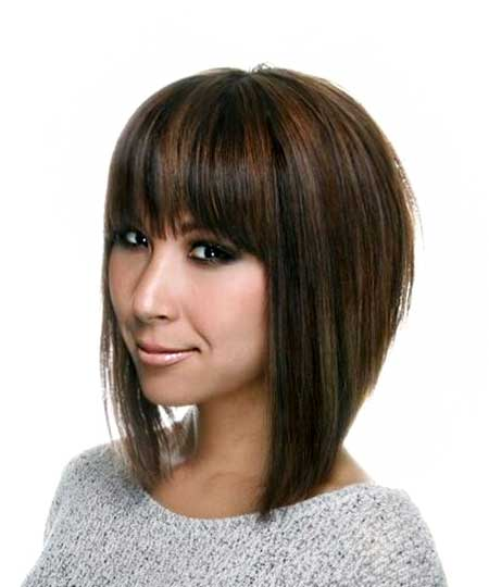 Straight Bob With Bangs Style