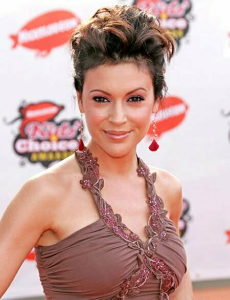 Alyssa Milano Messy Spikes Hairstyle