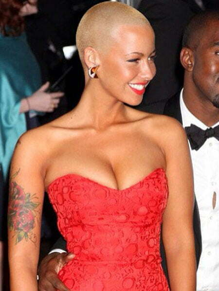 Amber Rose Short Blonde Hair