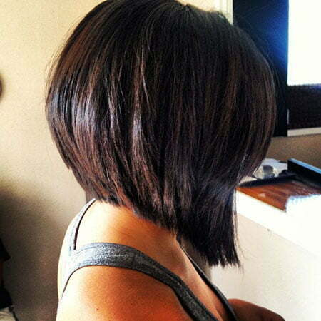 2013 Wedge Bob Stacked Haircut Front Side And Back View Hairstyle | LONG HAIRSTYLES