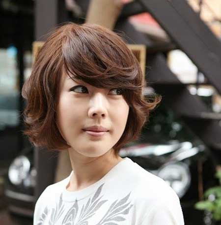 Short Wavy Hairstyles Asian