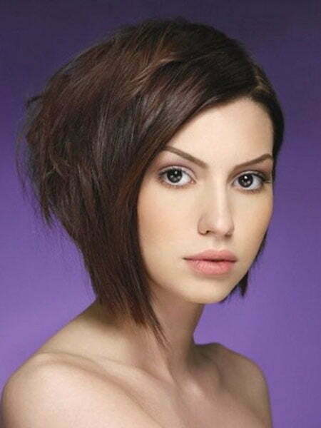 Cute Short Asymmetrical Hairstyles