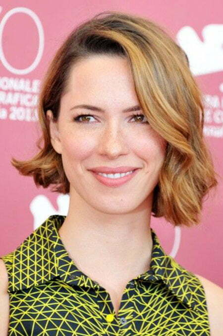 Short Wavy Asymmetrical Hairstyle