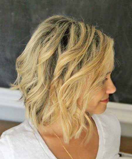 Cute Long Curly Bangs Hair Idea for Short Hair