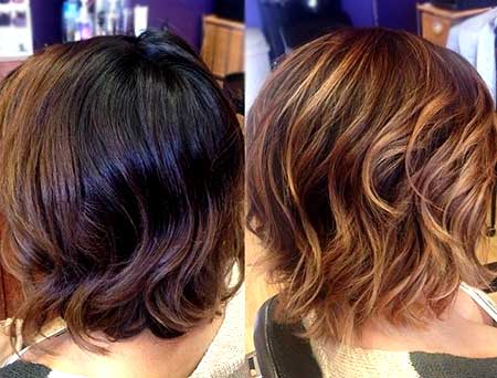 Bouncy Short Bob with Wavy Ends
