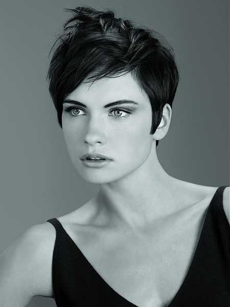 Enchanting And Ening Pixie Cut With Jagged Bangs Nicely Short Side Back Sections