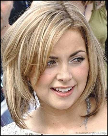 Best Short Hairstyles for Round Faces_24