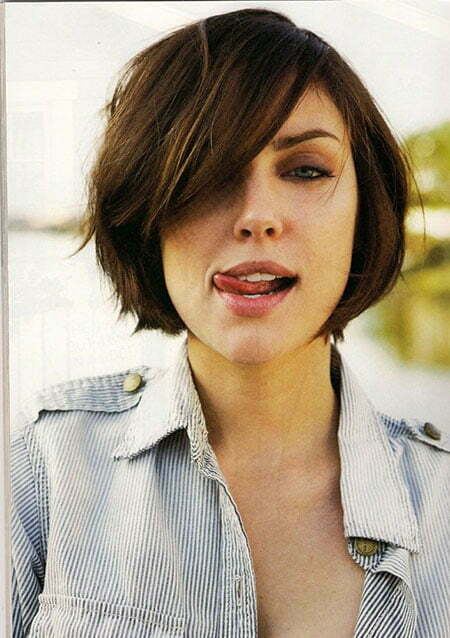 Best Short Hairstyles for Round Faces_8